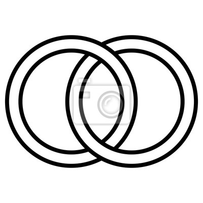Interlocking Kreise Symbol Zeichen Umriss Ringe Kreise Ringe