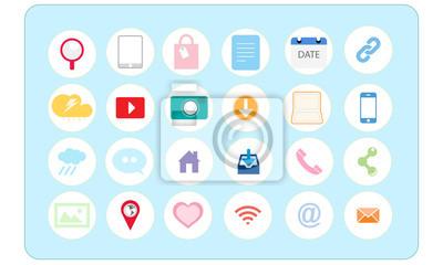 Internet Marketing sozialen Symbole gesetzt