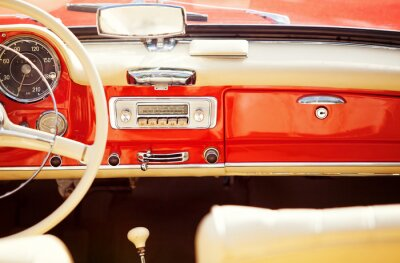 Fototapete interno auto vintage
