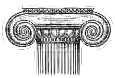 Ionischen Kapitell