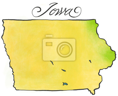 Iowa Karte