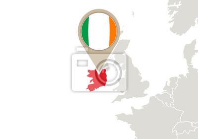 Irland Karte Europa.Fototapete Irland Auf Europa Karte