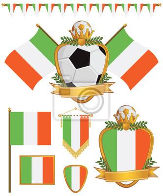 Irland-Flaggen