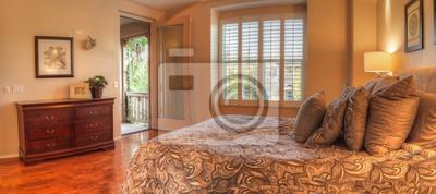 Irvine, ca, usa - 19. august 2016: großes schlafzimmer mit ...