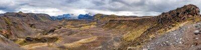 Fototapete Island Landmannalaugar trek wilde Landschaft