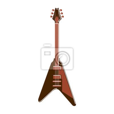 Isoliert elektrische gitarre auf weißem hintergrund. blues gitarre ...
