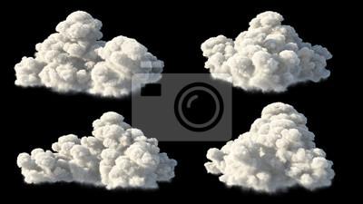Fototapete Isoliert wolken über schwarz