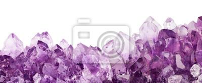 Fototapete isolierte Licht Amethyst Kristalle Streifen Makro