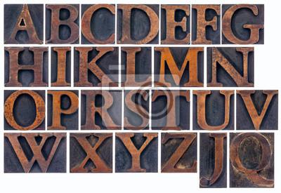 isolierten Alphabet in Holzart