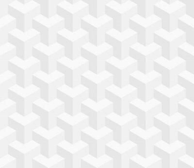 Fototapete Isometrische nahtlose Muster. 3D optische Täuschung Hintergrund.
