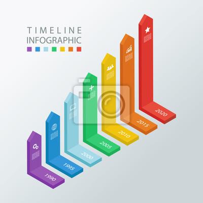 Isometrische zeitplan infographic design template.vector ...