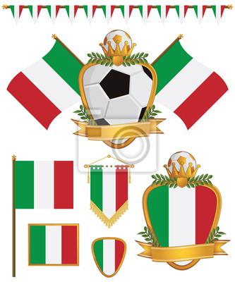Italien-Flaggen