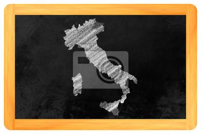 Italien Markt auf Einer Tafel