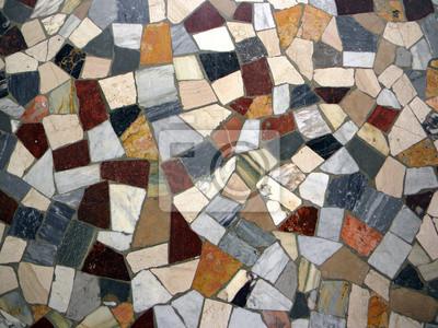 Italienischen Mosaikfliesenfußboden Fototapete Fototapeten - Mosaik fliesen fußboden