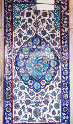 Iznik Stil Turkische Fliesen Mit Floralen Ornamenten Tulpe Motive