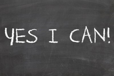 Fototapete Ja, ich kann, Motivation Phrase
