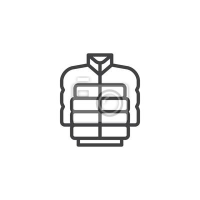 Fototapete: Jacke linie symbol, skizzieren vektor zeichen, lineare stil piktogramm