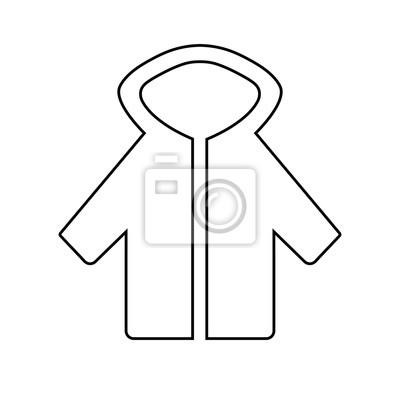 Fototapete: Jacke piktogramm übersicht