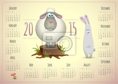 Jahr der Ziege 2015 Kalender.