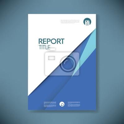 Jahresbericht deckblatt vorlage für material-design-stil vektor ...