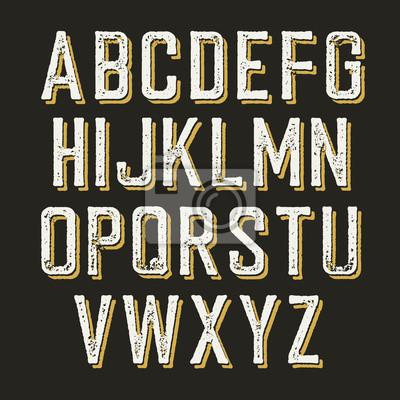Jahrgang Alphabet Buchstaben.