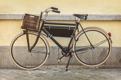 Fototapete Jahrgang Fahrrad mit Holzkiste