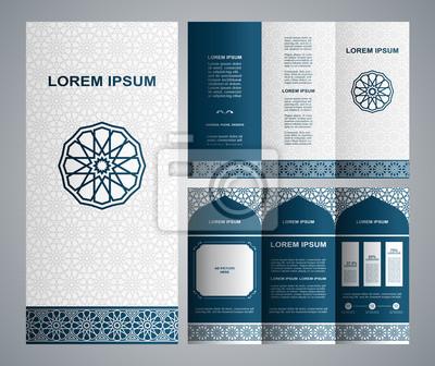 Jahrgang islamischen stil broschüre und flyer design-vorlage ...