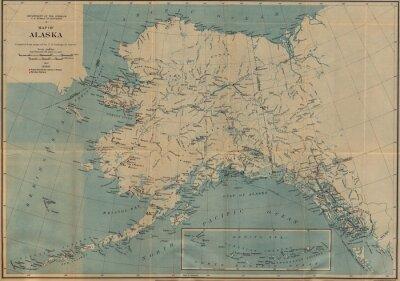 Fototapete Jahrgang Karte
