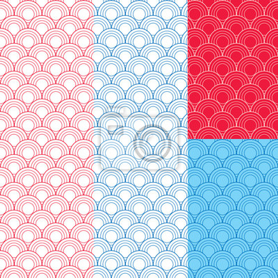 Japanische traditionelle nahtlose Muster. Abbildung