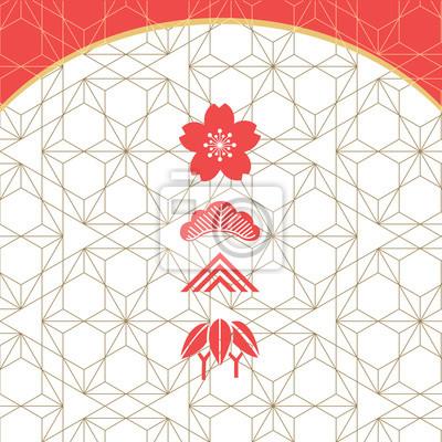 Baumwollstoff Japanisches Muster Kraniche