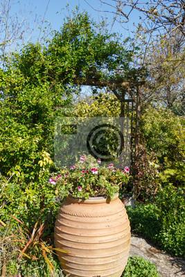 Jardin paysager fototapete • fototapeten Stamm, Strauch, Blatt ...