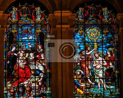 Jesus Auf Der Hochzeit Zu Kana Und Die Taufe Von Saint John