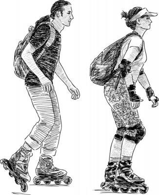 Fototapete Jugendliche skaten