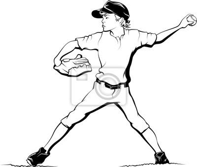 Junge Baseball Krug