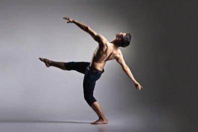 Fototapete Junge und stilvolle moderne Ballett-Tänzerin