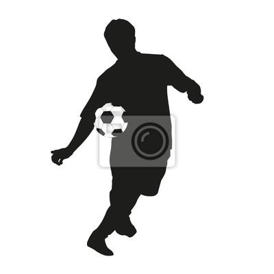 Junger Fussballspieler Silhouette Fototapete Fototapeten