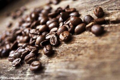Fototapete Kaffee auf Holz