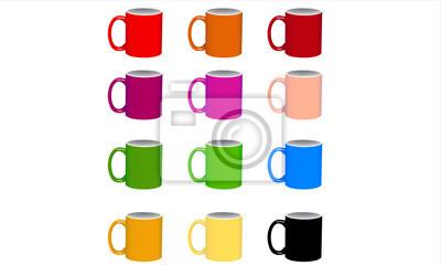 Kaffee Bunte Glas