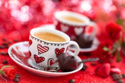 Fototapete Kaffee für Valentinstag.