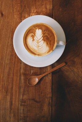 Fototapete Kaffee Latte im Kaffeehaus Vintage-Farbe