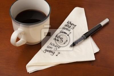 Kaffee mit philosophischen Fragen