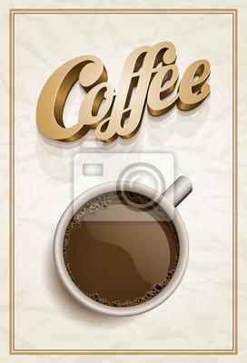 Kaffee-Plakat-Schablone