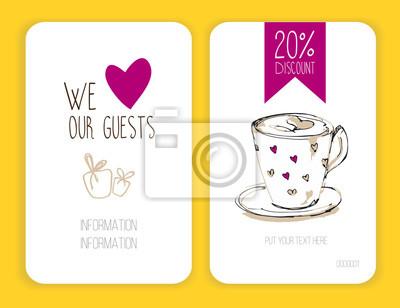 Kaffee rabatt karte. vorlage für ihr design fototapete • fototapeten ...