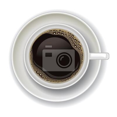 Kaffee-Tasse auf einem weißen isoliert