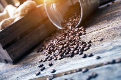 Fototapete Kaffeebohnen im Eimer