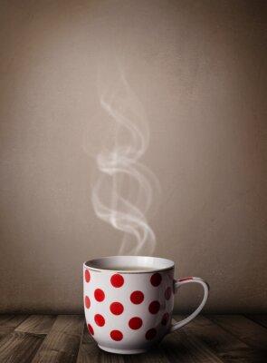 Fototapete Kaffeetasse mit abstrakten weißen Dampf