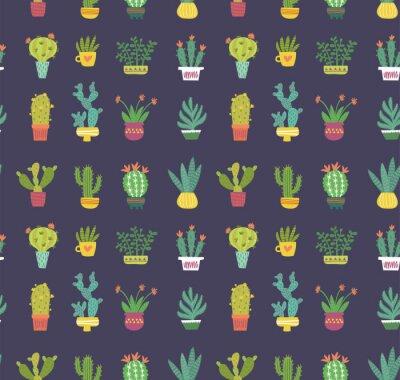 Fototapete Kaktus nahtloses Muster