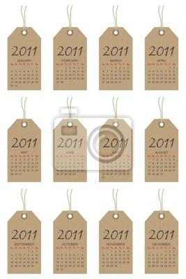 Kalander-Tags für das Jahr 2011