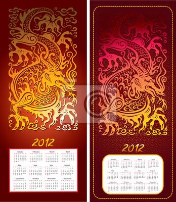 Kalender 2012 Jahr mit Drachen