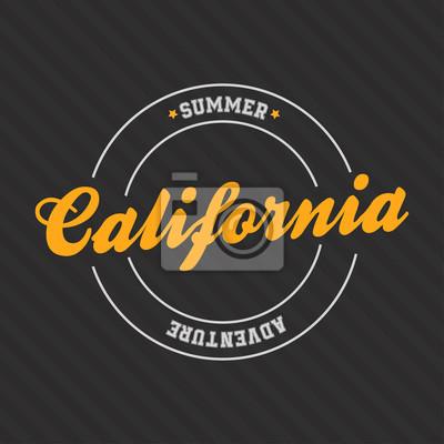 f8ae25f0acdb48 Fototapete Kalifornien-Druck für T-Shirt mit Schriftzug